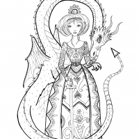Dragon Princess coloring page
