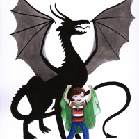 boy vs dragon 8x10 small