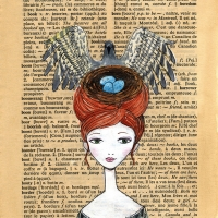 Book Page W - Pigeon Headdress small