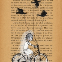 biking with birds 5x7 A