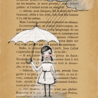 book page - girl in rain small